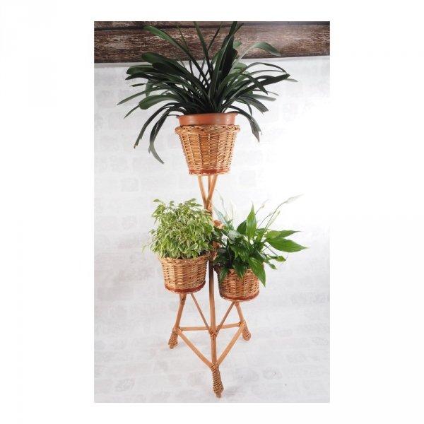 Stojak na kwiaty - kwietnik (Pełny/3D) - sklep z wiklina - zdjęcie 2