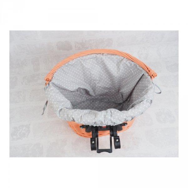 Kosz rowerowy przedni  z wkładem (Clik/Pomarańczowy) - sklep z wiklina - zdjęcie 4
