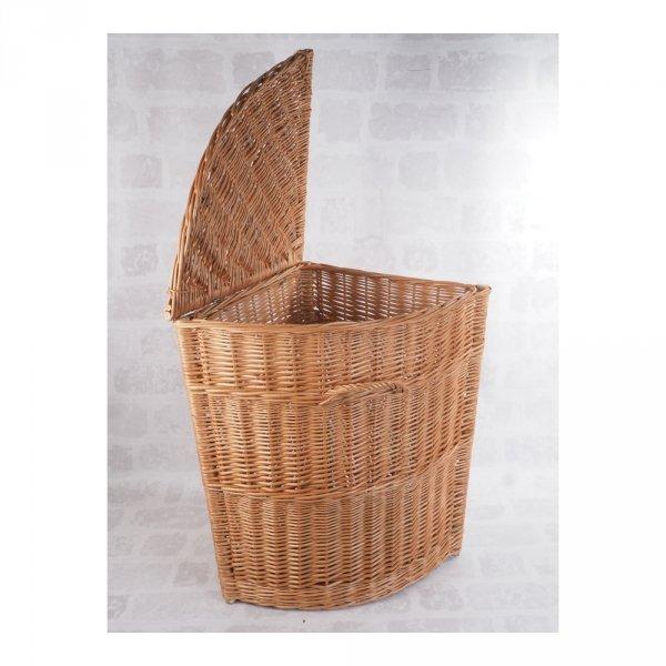Kosz na ubrania (narożny/40cm) - sklep z wiklina - zdjęcie 2