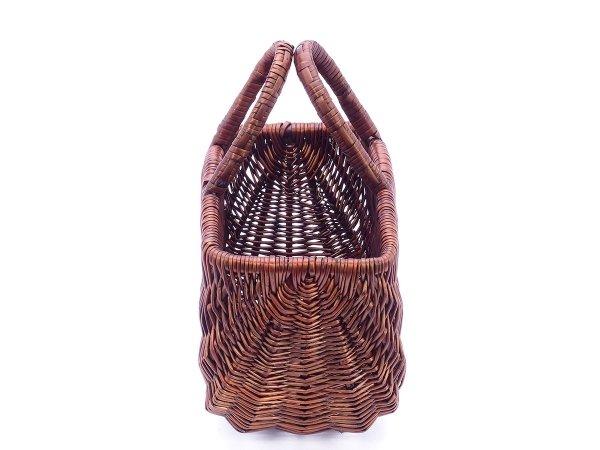 Kosz na zakupy wenge (San/garbaty/42cm) - sklep z wiklina - zdjecie 1
