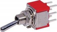 Przełącznik dźwigniowy DPDT T0811 mini PCB