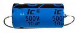 Kondensator 10uF 500V osiowy Illinois