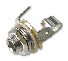 Gniazdo Jack 6,3mm Mono, metalowe NYS229
