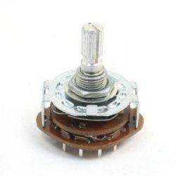 Przełącznik obrotowy 3 pozycje 4 obw. PCB