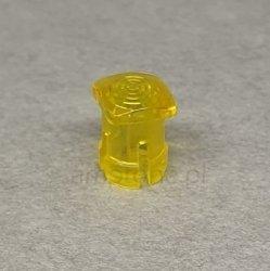 Oprawka LED soczewka 3mm żółta mat