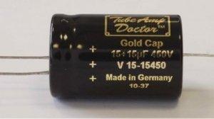 Gold Cap 15uF +15uF /450V TAD