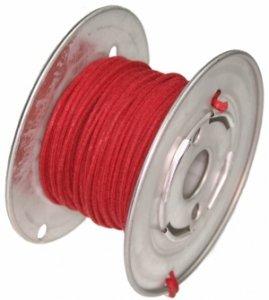 Kabel vintage czerwony solid 0,35mm2