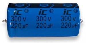 Kondensator 220uF 300V, osiowy Illinois