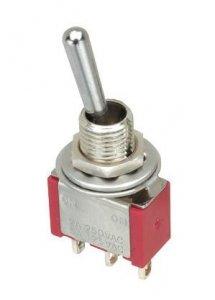 Przełącznik SPDT M112 mini ON-(ON) chwilowy