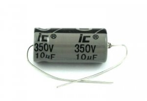 Kondensator 10uF 350V osiowy Illinois