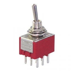 Przełącznik dźwigniowy 3PDT M302A PCB mini