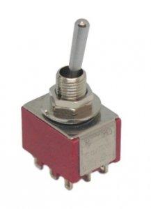 Przełącznik dźwigniowy 3PDT Carling mini