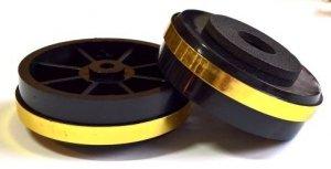 Nóżka plastikowa 50x15 gold/black