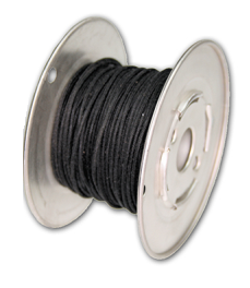 Kabel vintage czarny solid 0,35mm2