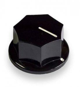 Gałka profilowana czarna B33