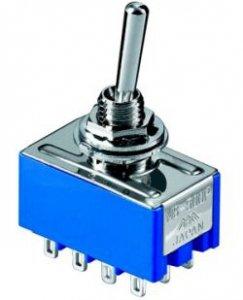 Przełącznik dźwigniowy 4PDT MIYAMA mini