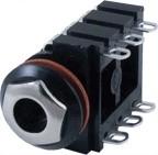 Gniazdo Jack 6,3mm stereo JCK601B