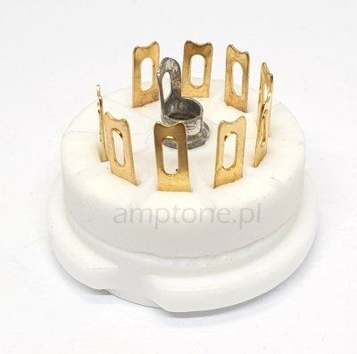 Podstawka Noval 9pin Gold typ3 ceramiczna