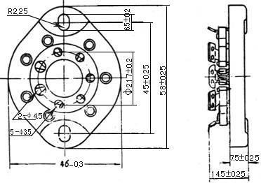 Podstawka 7pin typ3 Gold 1625