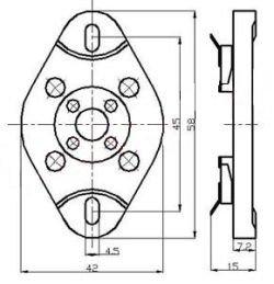 Podstawka 4pin typ1 UX4 (300B)