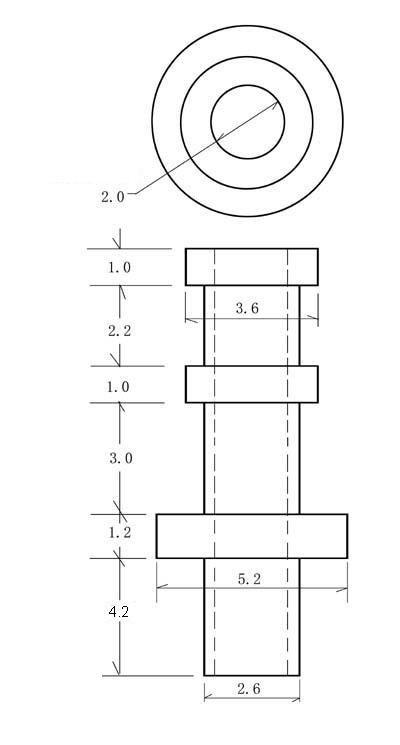 Turret Keystone 3mm (10szt)