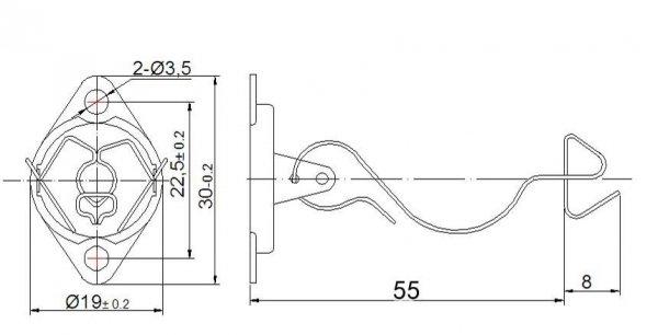 Mocowanie lamp 7pin