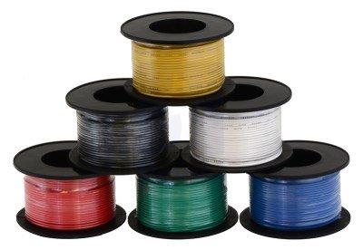 Kabel jednożyłowy solid 0,25mm2 niebieski (drut)