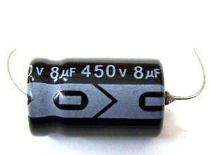Kondensator 8uF 450V osiowy