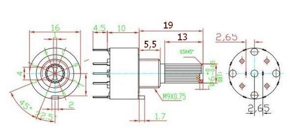 Przełącznik obrotowy 3 pozycje 2 obw. 16mm