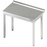 stół stalowy bez półki, przyścienny, skręcany, 1200x700x850 mm