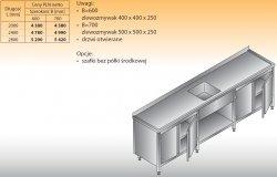 Stół zlewozmywakowy 1-zbiornikowy lo 221 - 2800x700