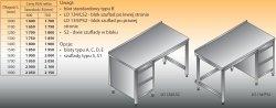 Stół roboczy z blokiem szuflad lo 134/s2 - 1900x600
