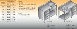 Stół zlewozmywakowy 1-zbiornikowy lo 209/s3 - 1800x700
