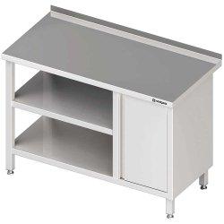 Stół przyścienny z szafką (P),i 2-ma półkami 1900x600x850 mm
