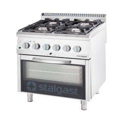 kuchnia gazowa z piekarnikiem elektrycznym, 4-palnikowa, P 20.5+7 kW, U G20