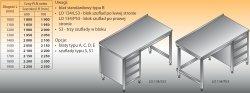 Stół roboczy z blokiem szuflad lo 134/s3 - 1600x700