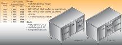Stół roboczy z blokiem szuflad i szafką lo 138/s2 - 1700x600