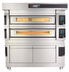 Moretti Forni dwukomorowy elektryczny piec do pizzy i piekarniczy z okapem i bazą S100E - kod MFS100D