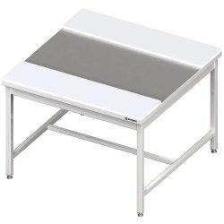 stół centralny z płytami polietylenowymi 1900x1400x850 mm spawany