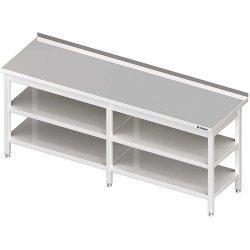 Stół przyścienny z 2-ma półkami 2600x700x850 mm spawany
