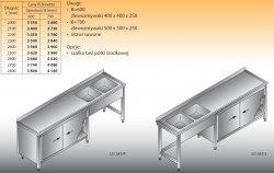 Stół zlewozmywakowy 2-zbiornikowy lo 247 - 2200x700