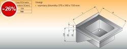 Zlewozmywak 1-komorowy ścienny lo 412 - 500x500