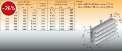 Cztery półki naścienne z szynami lo 634 - 1600x400