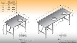 Stół sortowniczy prosty prawy lo 302 - 2700x1200 Lozamet