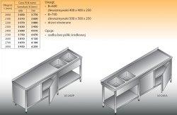 Stół zlewozmywakowy 2-zbiornikowy lo 243 - 2100x700