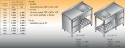 Stół zlewozmywakowy 1-zbiornikowy lo 210/s2 - 1700x700