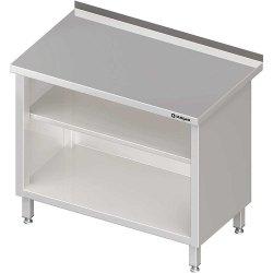 Stół przyścienny, zabudowany z 2-ma półkami 400x700x850 mm