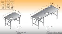 Stół sortowniczy kątowy lewy lo 312 - 2700x1200 Lozamet