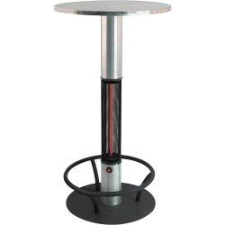 stolik barowy z systemem ogrzewania