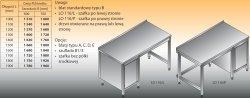 Stół roboczy z szafką lo 116/l; lo 116/p 1800/700